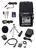 Zoom H2n Handy Handheld Digital Multitrack Recorder Bundle with APH-2n Accessory Pack, SD Card, Earbuds, 1/8-Inch-to-RCA Cable, and 3.5mm Stereo Cable