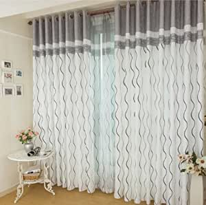 Fadfay home textile custom made curtains modern living room curtains brief - Amazon curtains living room ...