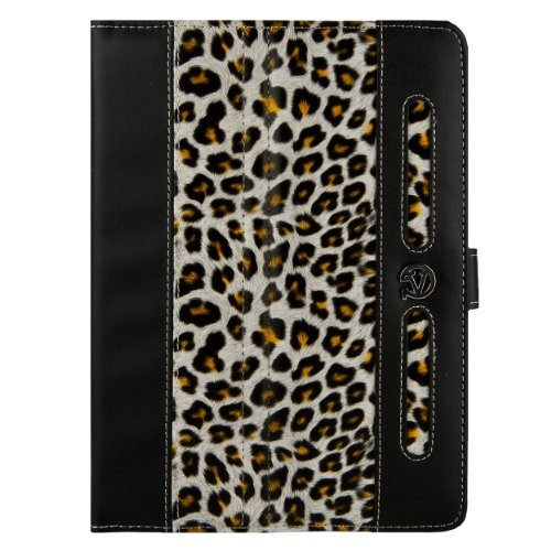 "Dauphine Standing Case Cover for Ematic 7"" Android Tablet (Gold Leopard) at Electronic-Readers.com"