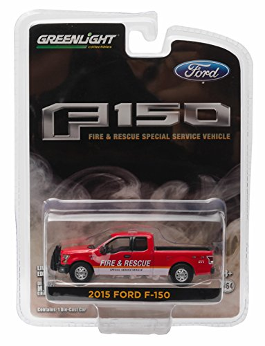 2015 FORD F-150 (Fire & Rescue Special Service Vehicle) * Hobby Exclusive * 2016 Greenlight Collectibles Limited Edition 1:64 Scale Die-Cast Vehicle