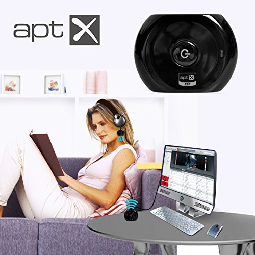 IPERprice - Prodotto del Giorno 27 Settembre 2016: Avantree Pre-paired 2 PCS Bluetooth Audio Transmitter and Receiver for Wireless Streaming Audio from TV DVD Via Old Home Stereo or Wired Headphones - Saturn Set - Foto 4