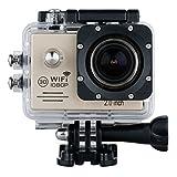 """Excelvan WiFi 30M Étanche Anti-vibrations Vidéo DV Action Caméra de Sport 14MP HD 1080P H.264 avec 2.0"""" Full HD LCD écran Détection de mouvement + Kits accessoires ensemble - Or..."""