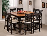 Hillsdale Embassy Square Counter Height 9-Piece Dining Set, Rubbed Black, S ....