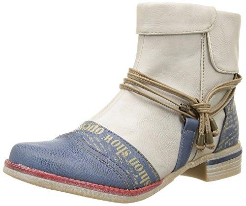Mustang Damen 1210504 Stiefel & Stiefeletten, Mehrfarbig-Multicolore (804 Blau/Ice), 39 EU
