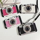 【SPLEAN】iPhone6/6s カメラ型 ケース (全4色) (ピンク)