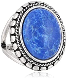 "Amazon.com: Lucky Brand ""Frozen Lake"" Blue Set Stone Ring"