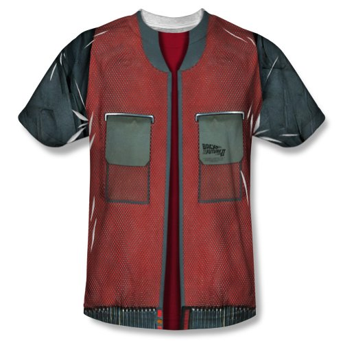 Back To The Future Movie Jacket Costume Adult Front Print T-Shirt Tee