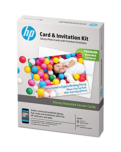 HP-Card-Invitation-Kit-for-Glossy-Rounded-Corner-Flat-Cards-5x7-25-sheets-and-Envelopes-K6B84A