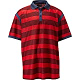 Callaway Men's Big & Tall Rugby Striped Polo