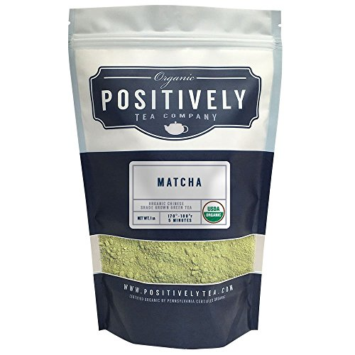 Organic Chinese Matcha , Loose Leaf Bag, Positively Tea (1 LB.) (Positively Organic compare prices)