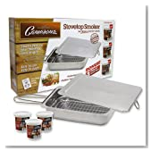 Stovetop Smoker - The Original Camerons Stainless Steel Smoker Value Pack with 3 Bonus Pints of Wood Chips