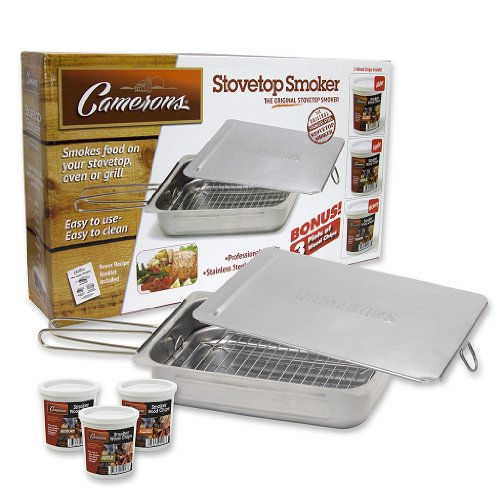 For Sale! Stovetop Smoker - The Original Camerons Stainless Steel Smoker Value Pack with 3 Bonus Pin...