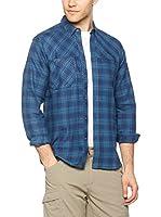 Salewa Camisa Hombre Puez Flannel Pl M L/S Srt (Azul)