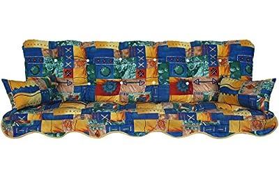 Polsterauflage Hollywoodschaukel 180x50 Modell 260 patchwork blau von Adlatus bei Gartenmöbel von Du und Dein Garten