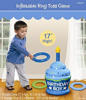 Inflatable Boy Birthday Ring Toss Game