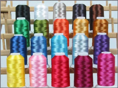 20 Cone Set Polyester Thread - Essential Colors