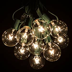 100 Foot G50 Patio Globe String Lights With Clear Bulbs For Outdo