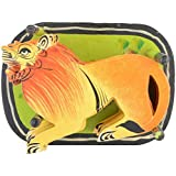 Agrawal Toys Emporium Wooden Tiger Coaster With Stand, Set Of 6, Orange & Yellow