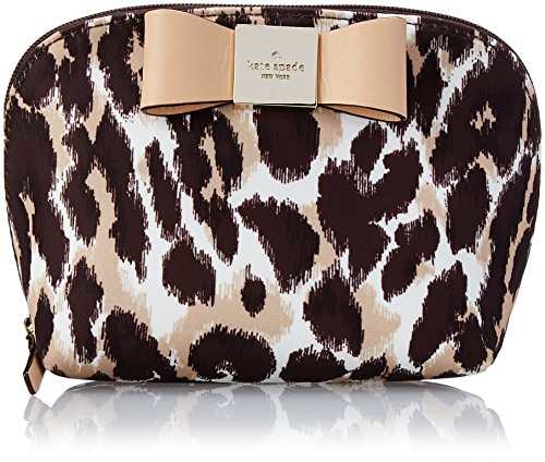 kate spade new york Veranda Place Nylon Small Annabella Cosmetic Case,Leopard,One Size