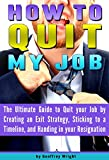 How to Quit My Job: The Ultimate Guide to Quit Your Job by Creating an Exit Strategy, Sticking to a Timeline, and Handing in your Resignation