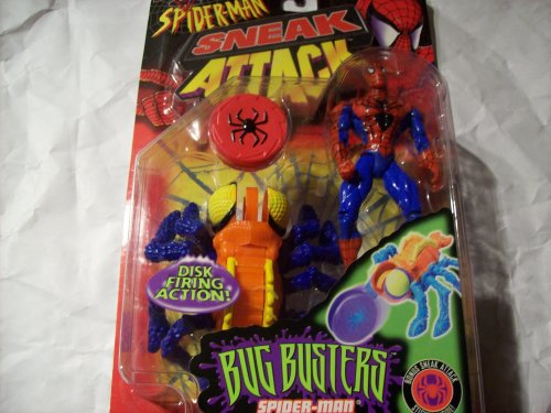 Spider-Man Sneak Attack Bug Busters Spider-man with Spider Stinger Action Figure - 1