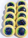 HYPER 84mm HARD HYOCTANE Inline Skate Wheels Racing 10-Pack Indoor Race
