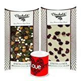Valentine Chocholik Belgium Chocolates - Delicious Combination Of White & Dark Chocolate Bars With Love Mug