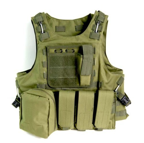Yes Outdoor Tactical Molle Airsoft Vest Green Color Paintball Combat Soft Vest