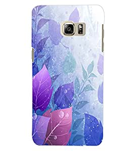 ColourCraft Beautiful Leafs Design Back Case Cover for SAMSUNG GALAXY S6 EDGE PLUS