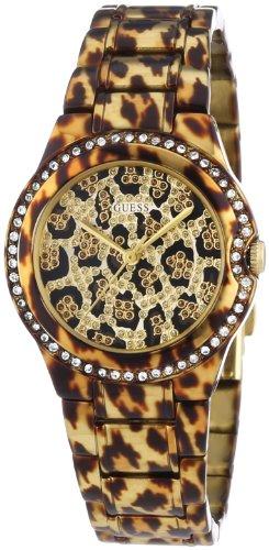 Guess Damen-Armbanduhr Analog Quarz Edelstahl Messing W0084L1