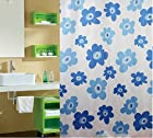 High Grade Polyester Shower Curtain Waterproof Mouldproof Lovely Flower Curtain Luxury Decor