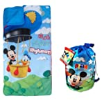 Disney Mickey Mouse Indoor Slumber Sleeping Bag For Kids w/Carry Drawstring