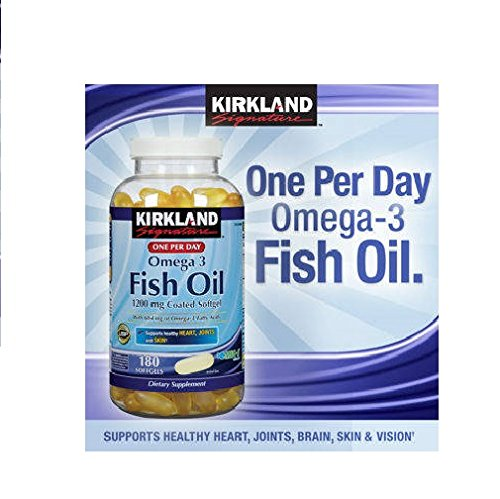Kirkland Signature Enteric Coated Fish Oil Concentrate, 180 Softgels Each (Pack Of 2)