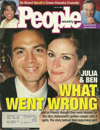 Julia Roberts and Benjamin Bratt, Oprah Winfrey, Jack Lemmon - July 16, 2001 People Weekly Magazine