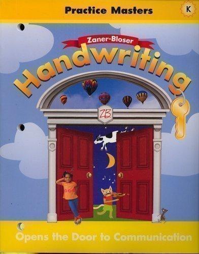 Handwriting Practice Masters Level K (ZANER-BLOSER, LEVEL K)