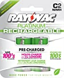 Rayovac Platinum Low Self Discharge NiMH C Size Batteries, 2 Pack