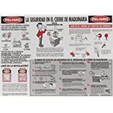 """Brady LOSP8SP 18"""" Height, 24"""" Width, Laminated Paper, Black And White On Red Color Lockout Safety Poster (Spanish)"""