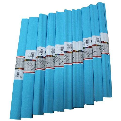 Staufen 617152 - Krepppapier 10 Rollen 50 x 250 cm lichtblau