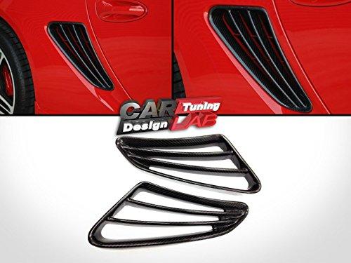 (2) Kohlefaser Seitenschlitze Lufteinlass Fender Grills Air Flow Cover für Porsche Cayman S 987