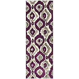 Safavieh Porcello Collection PRL7736B Ivory and Purple Runner, 2 feet 4 inches by 6 feet 7 inches (2\'4\