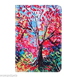 Beautiful Unique Design PU Leather Flip Case Cover with card slot for iPad Mini 4 - Oil Painting Tree