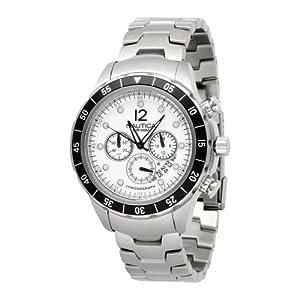 Nautica N19532G - Reloj de pulsera hombre, acero inoxidable, color plateado