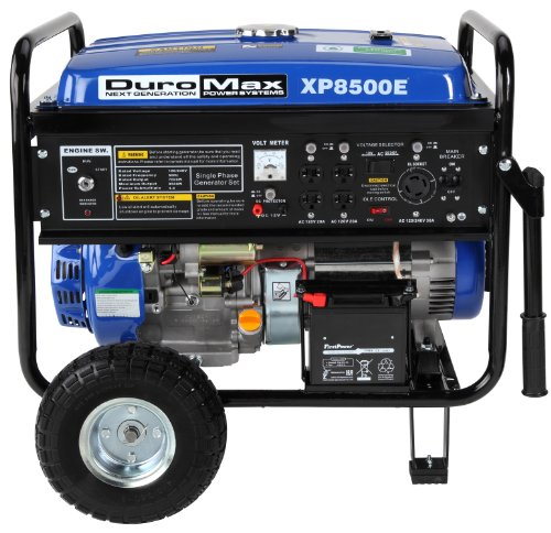 DuroMax DuroMax XP8500E 8,500 Watt 16 HP OHV 4-Cycle Gas Powered Portable Generator With Wheel Kit And Electric Start