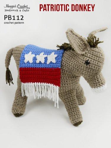 Crochet Pattern Patriotic Donkey PB112-R