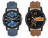 #8: Ak Analogue Multi-Colour Dial Men Watch-Wat-W06-1-2-Combo