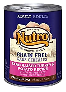 The Nutro Company Adult Dog Food with Grain Free Natural Turkey and Potato Formula, 12.5-Ounce