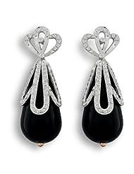 Aastha Jain Pear Black Onyx Drop Earring For Women