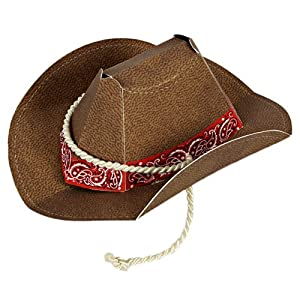 Meri Meri Howdy Cowboy Party Hats, 8-Pack from Meri Meri