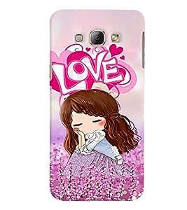 Fuson 3D Printed Love Girl Designer back case cover for Samsung Galaxy A8 - D4149