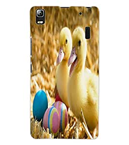 ColourCraft Cute Baby Chickens Design Back Case Cover for LENOVO A7000 TURBO